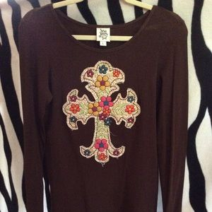 Ivy Jane colorful cross top